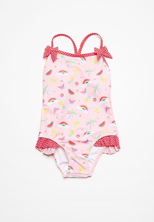 09680428a5bc9 Fruit swimsuit - fruit print MINOTI Swimwear