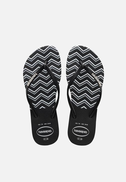 aa19b9027f50 Slim Zigzag – Black White Havaianas Sandals   Flip Flops ...