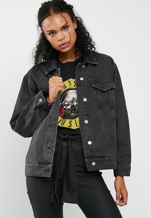 305d17b9cdc8 Oversized denim jacket - black Missguided Jackets | Superbalist.com