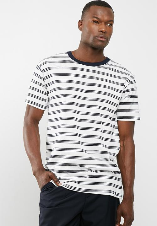 bb21b4c1bdfc Dylan tee - White Ink Navy Stripe Cotton On T-Shirts   Vests ...