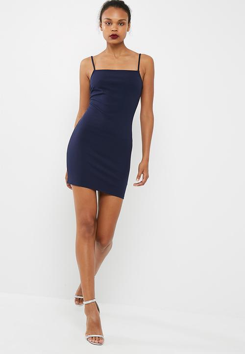 d5dc3227922e3 Short square neck bodycon dress - navy dailyfriday Formal ...