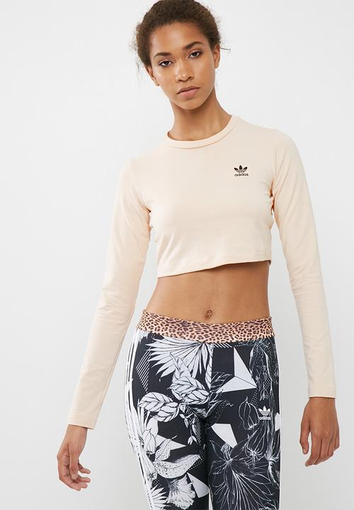 b4f4a69e SC t-shirt crop - linen adidas Originals T-Shirts | Superbalist.com