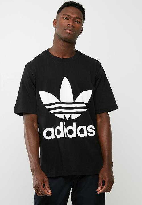 1ef689f89ab Mens oversized trefoil tee - black/white adidas Originals T-Shirts ...