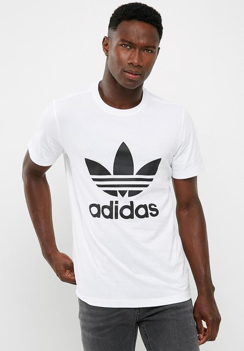 b65ccbd4 Mens org trefoil tee - White/Black adidas Originals T-Shirts ...
