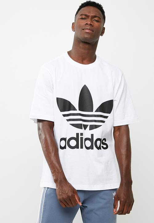20a52815499 Oversized trefoil tee - white/black adidas Originals T-Shirts ...