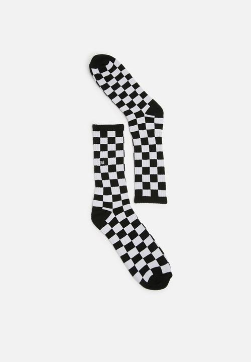 1fbdda69bdce79 Checkerboard crew socks - black white Vans Socks