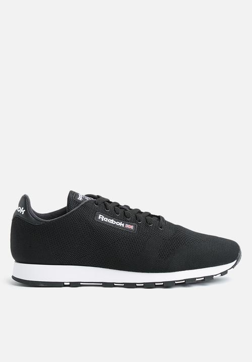 1dd524649eb55 Reebok CL Leather ULTK-CM9876 - Black White Reebok Classic Sneakers ...