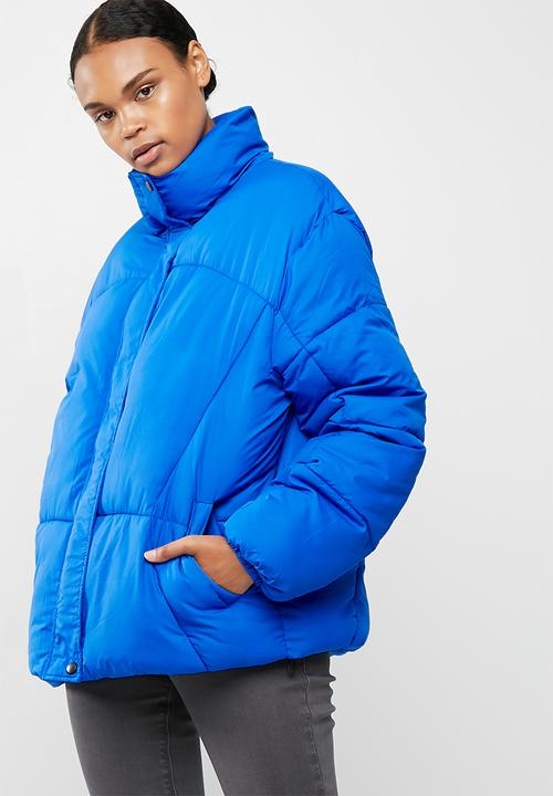 2aac28ba922d Ultimate oversized puffer jacket - Blue Missguided Jackets ...