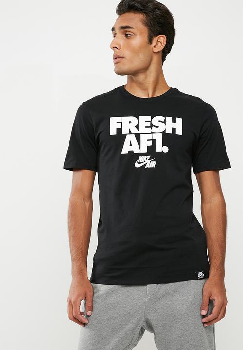 64ff965b M NSW tee af1 2 - Black/White Nike T-Shirts | Superbalist.com