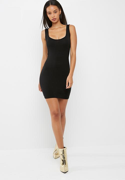 51342ac0ba3ac Square neck bodycon mini dress - Black Missguided Casual ...