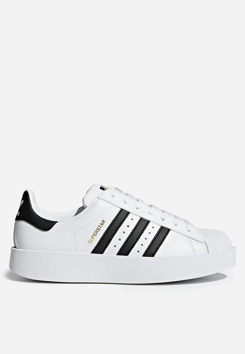 9f8925012489 Superstar bold W - White Black Gold adidas Originals Sneakers ...