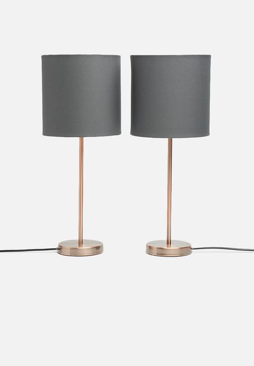 Upright Table Lamp Set Grey Sixth Floor Table Lamps Superbalistcom
