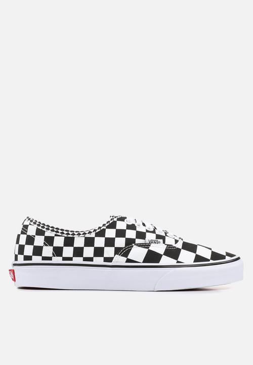 6ef40296915 Vans Authentic-mix- checker-black white Vans Sneakers