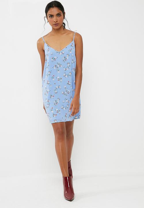 4dafd213741f98 Woven margot slip dress - Nevada sunset della robbia blue Cotton On ...