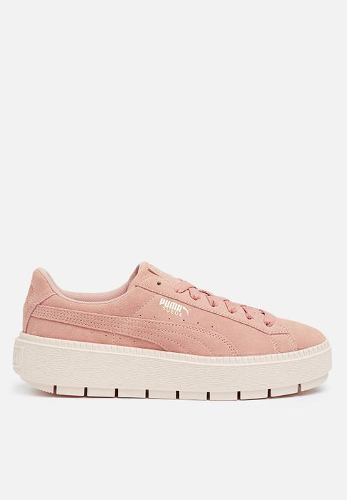 9b50b55f486 Suede Platform Trace - Peach Beige-Pearl PUMA Sneakers
