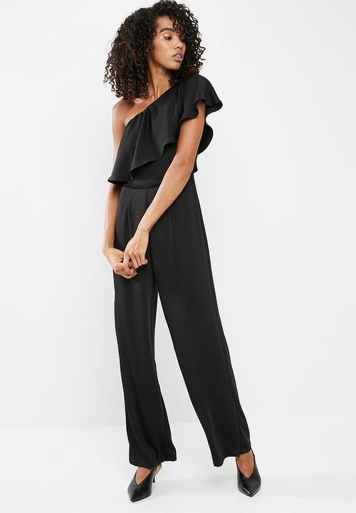 851657bbd368 One shoulder jumpsuit - Black dailyfriday Jumpsuits   Playsuits ...