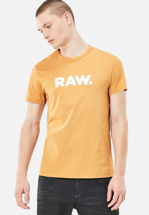 3f169a79736 Holorn Tshirt- Yellow G-Star RAW T-Shirts   Vests