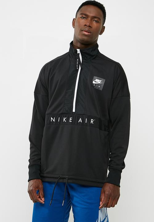 fdd7e10744 M NSW TOP AIR LS HZ PK - Black   White Nike Hoodies