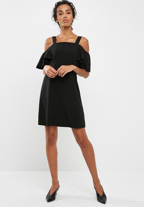 84c54109c7 Bernadette cold shoulder dress - Black Jacqueline de Yong Casual ...