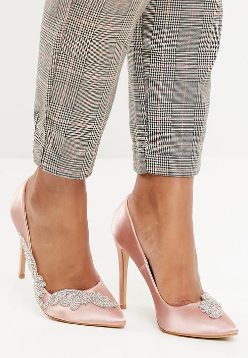 d88dee35fdf7 Embellished satin court - Blush dailyfriday Heels