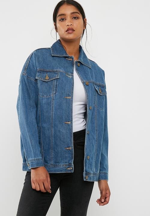 32b4cb445953 Tia oversized denim jacket - Medium Blue dailyfriday Jackets ...