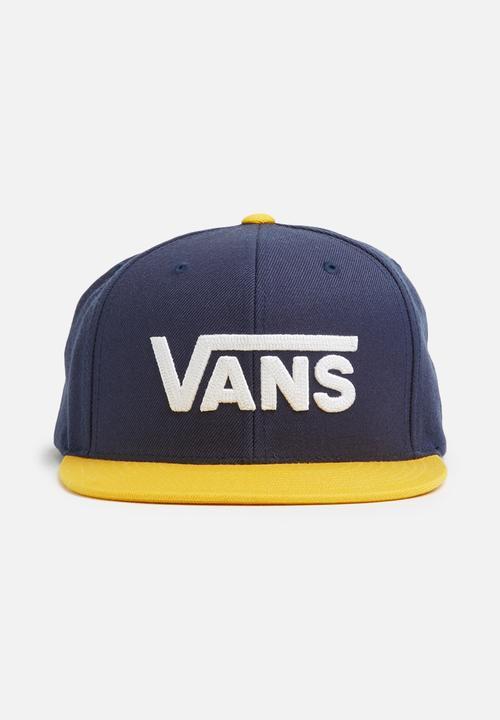 78c4cbac0e81 Drop V II snapback - Dress blues   old gold Vans Headwear ...
