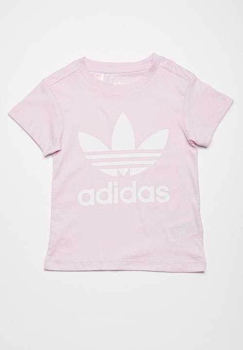 392c0c85213394 Trefoil tee - Aero pink adidas Originals Tops