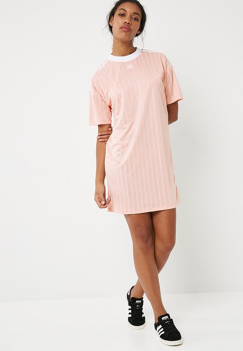 6a2032bc010 Trefoil t-shirt dress - Blush Pink adidas Originals T-Shirts ...