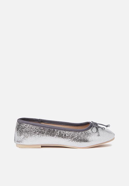 7e180c25e Kids ballet flats - silver foil Cotton On Shoes | Superbalist.com