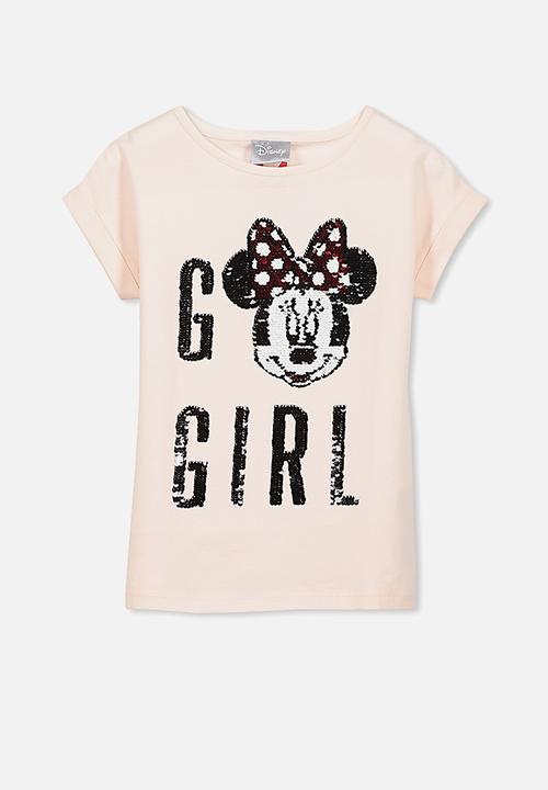 24ca2c05c852 Kids lux short sleeve retro tee - minni go girl light pink Cotton On ...