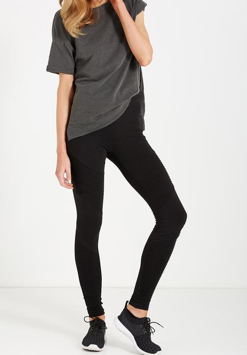 Dakota Detail Legging Moto Black Cotton On Trousers Superbalist Com