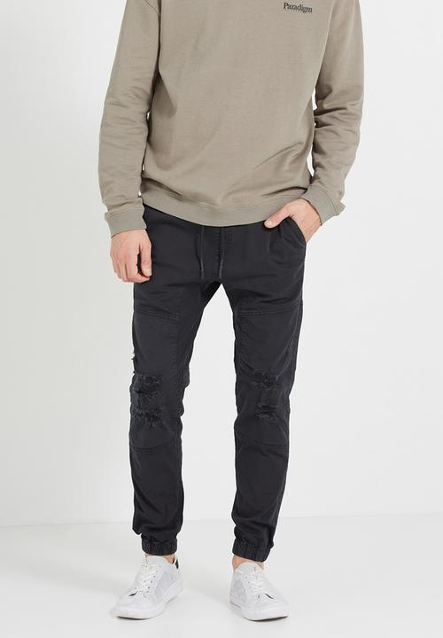 0220aaecc88 Drake cuffed pant - ripped black Cotton On Pants & Chinos ...
