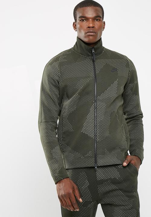 8484d2359a M NSW TCH FLC JKT GX 1.0 - Sequoia black Nike Hoodies