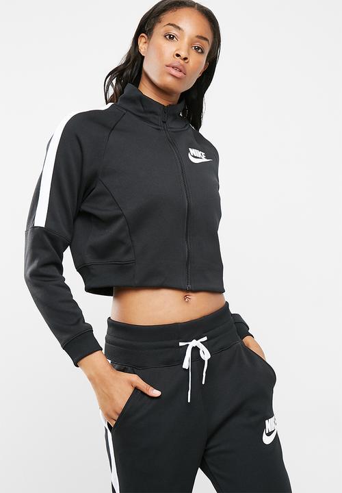 W Nsw N98 JKT PK - Black Nike Hoodies 268f804d0a