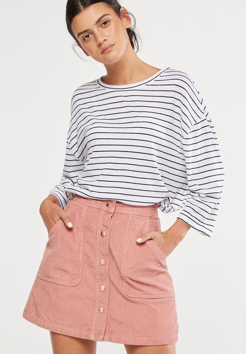 a41799430ea Jackie oversized long sleeve top - Cleo stripe white deepest navy ...