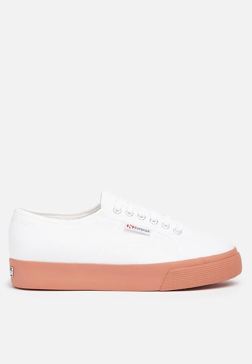 7d54be2151d0 2730 Cotu Canvas Wedge - White   Dusty Rose SUPERGA Sneakers ...