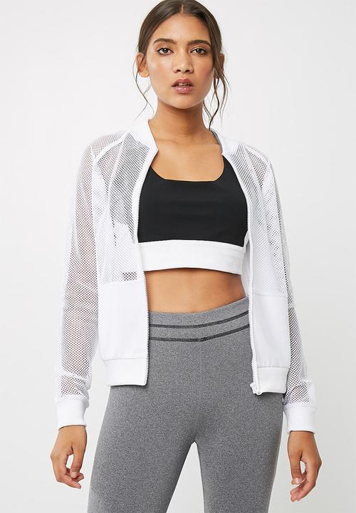 3ba3df5c2f3499 Mesh bomber jacket - white1 dailyfriday Hoodies