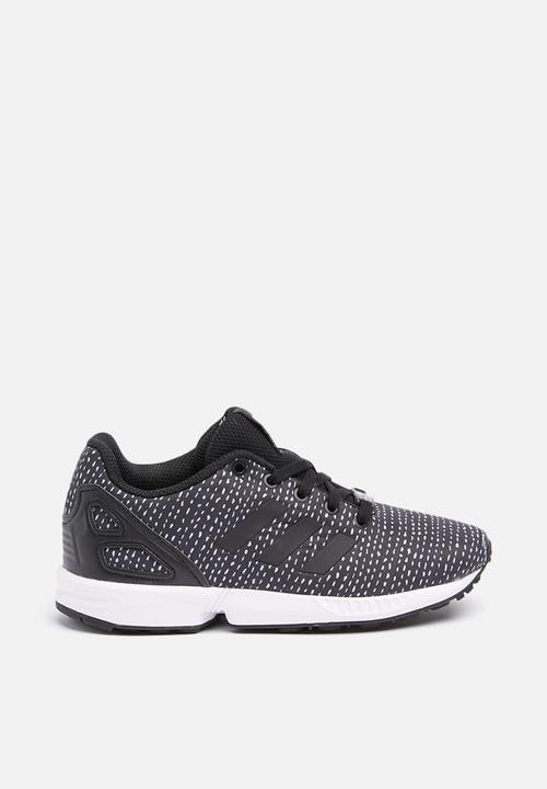 e83521458 Kids ZX Flux C - black black white adidas Originals Shoes ...