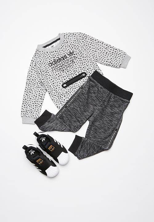 88ccee561 Kids I NMD tracksuit - grey black adidas Originals Tops ...