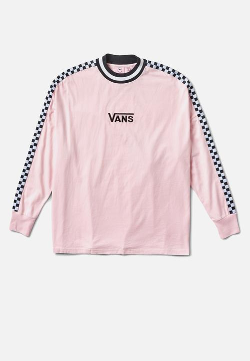 47ded5d76a8a65 Vans x Lazy Oaf checkerboard tee - Almond blossom Vans T-Shirts ...
