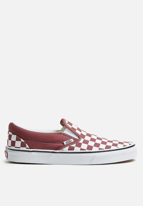 f68ca96869 Classic Slip-On - (Checkerboard) apple butter true white Vans ...