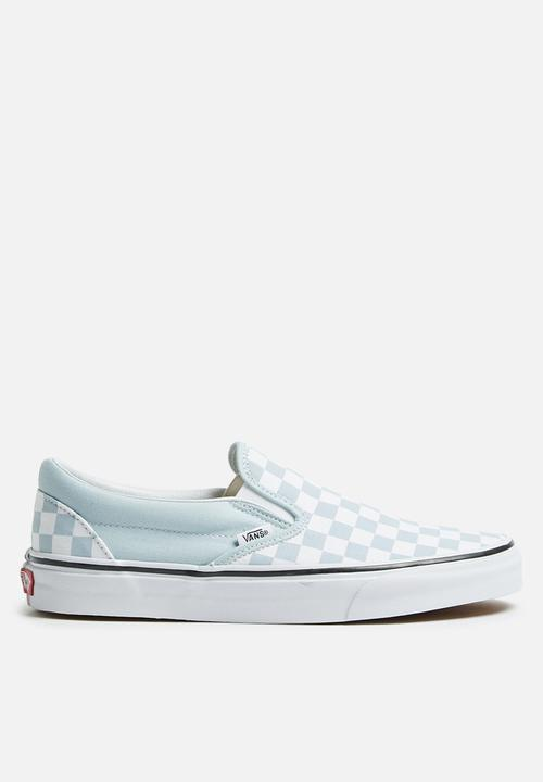4ce42bb8c5 Classic Slip-On - (Checkerboard) baby blue true white Vans Sneakers ...