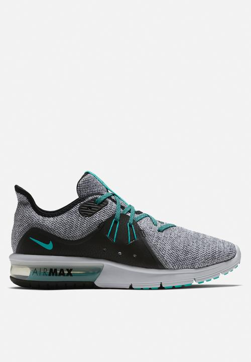 4044e947794 Men s Nike Air Max Sequent 3 Running Shoe - White   Hyper Jade ...