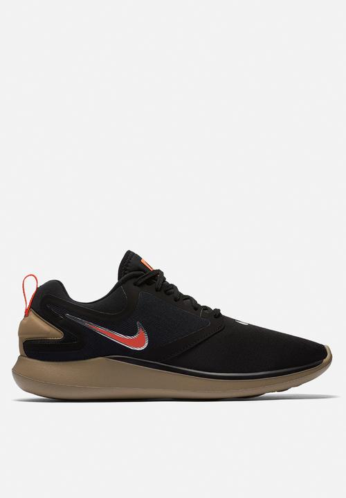 1e9841fe60b2 Men s Nike LunarSolo Running Shoe -Black Total Crimson-Khaki Nike ...