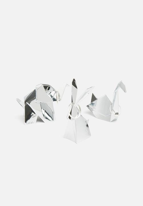 Origami Ring Holder 3 Pack Chrome Umbra Storage Organisation