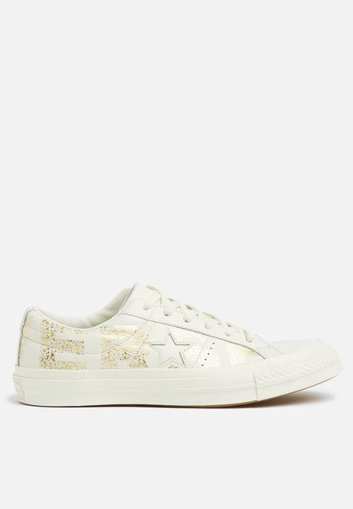 17bc646466aa Converse One Star-OX-Wordmark-Egret Gold Converse Sneakers ...