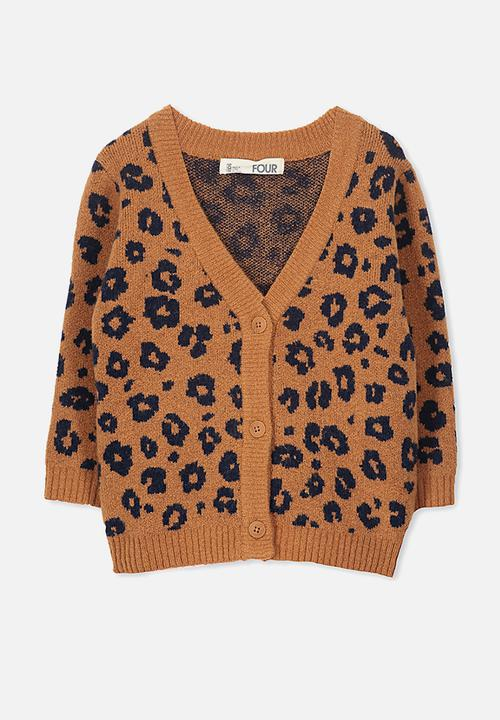 d57d9b5f5db9 Kids carmen cardi - walnut animal Cotton On Jackets   Knitwear ...