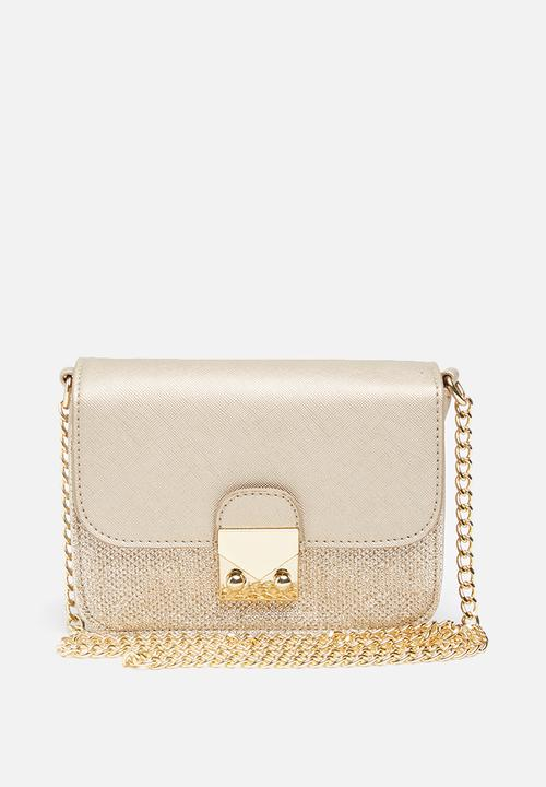 af0985fbdd Grace glitter metallic mini clutch-Gold New Look Bags & Purses ...