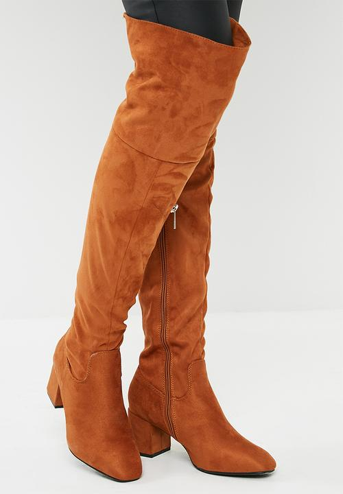 2d4bff2676a Zanele over the knee boot - tan dailyfriday Boots