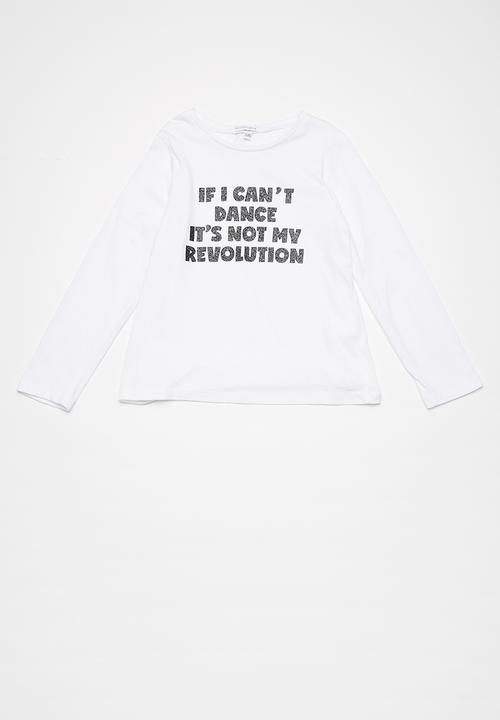 9f3028a57 Kids slogan L S tee - white if l cant dance its not my revolution ...